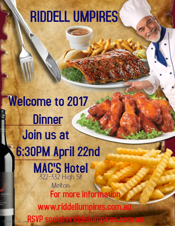 Welcome to 2017 Dinner